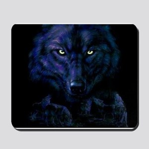 Midnight Wolf Mousepad